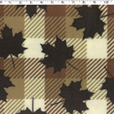 3265016 Mountain Fleece Prints - BUFFALO PLAID MAPLE
