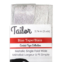 5024001 Bias Tape Wide Single Fold - Metallic