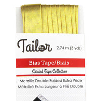 5025001 Double Fold Bias Tape Metallic