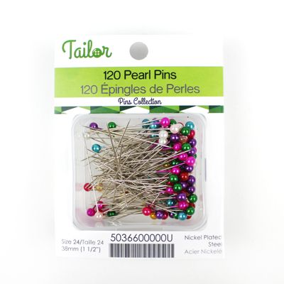 5036600 Pearl Pins 38mm Assorted Colour
