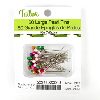 5036602 Large Pearl Pins 38mm Assorted Colour