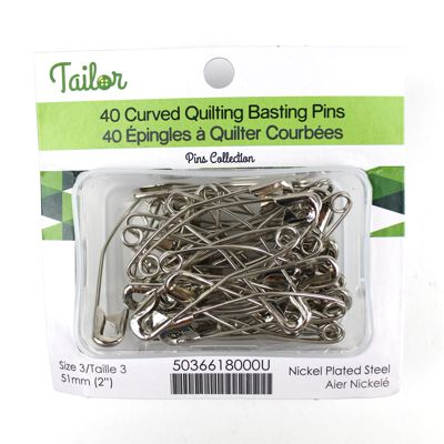 5036618 Quilting Basting Pins Curved 51mm