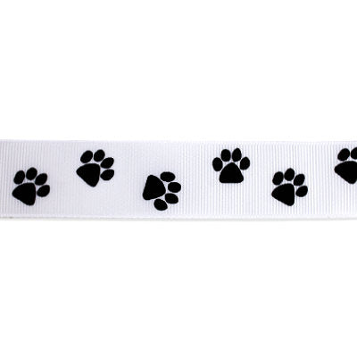 5101125 Grosgrain Ribbon Printed 25mm - Doggie Paws