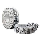 5102025 25mm Grosgrain Ribbon with Musical Print
