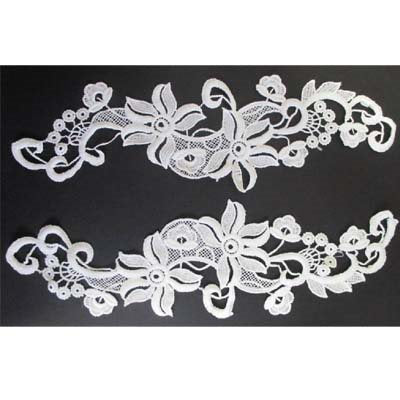 5200044 Lace Applique 28.5cm x 8.5cm