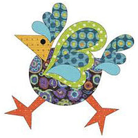 5211204 Applique Elementz Fusible Fabric Applique- Funky Chicken Small
