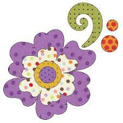 5211207 Applique Elementz Fusible Fabric Applique- Flower