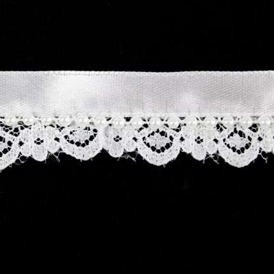 5949059 Lace With Satin And Beads 1.8cm