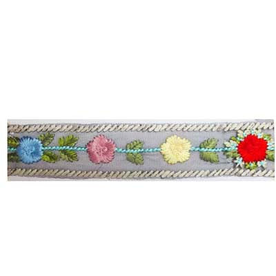 5949140 Band Embroidered Mesh Floral 6cm