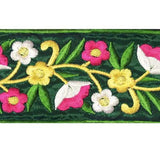 5949144 Trim Embroidery Floral Iron On 6.2cm