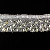 5949156 Trim Metallic Beaded 3.2cm