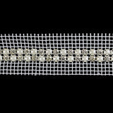 5956007 Trim Pearl And Rhinestone 2-Row 1cm