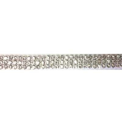 5956129 Trim Rhinestone Triple Row 0.64cm