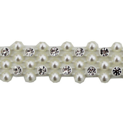 5998200 Trim Rhinestone and Faux Pearl 1.5cm