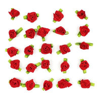 6136036 10mm Ribbon Roses (Packaged)