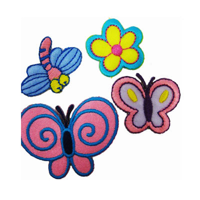 6136453 Applique Flower/Dragonfly/Butterfly