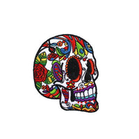 6136495 Applique Skull Iron-On 7cm X 8cm