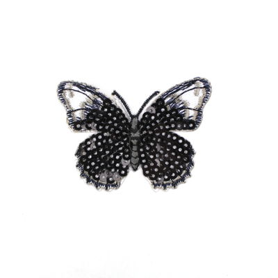 6136509 Applique Butterfly with Sequins 6.5cm x 4.9cm