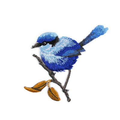 6136534 Applique Blue Bird 8.5cm x 8.5cm