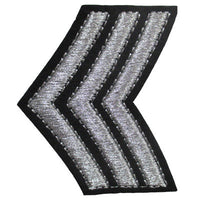 6136608 Applique Sergeant Stripes 6.6cm x 5.2cm