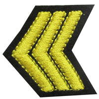 6136609 Applique Sergeant Stripes 4cm x 4cm
