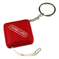 6432000 Tape Measure - 150cm Square Pleather Key Chain with Fabricland Logo