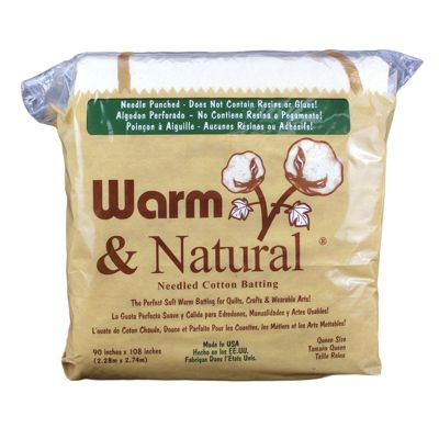 6610091 Warm & Natural Quilt Batting Pack Queen Size