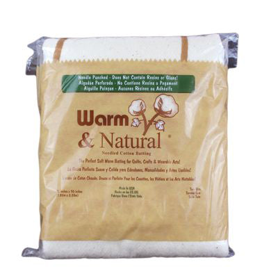 6610112 Warm & Natural Quilt Batting Twin