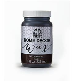 HOME DECOR WAX CLEAR 8 OZ.  FOLKART