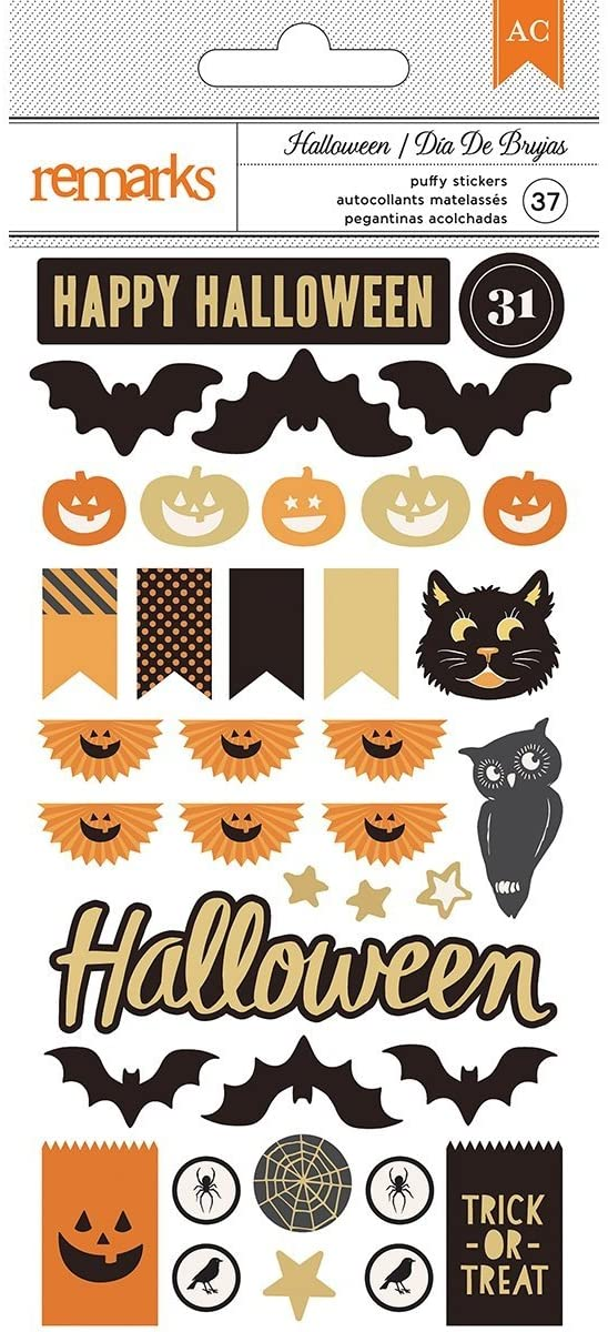 AUTOADHESIVOS DECORACIONES HALLOWEEN AMERICAN CRAFT