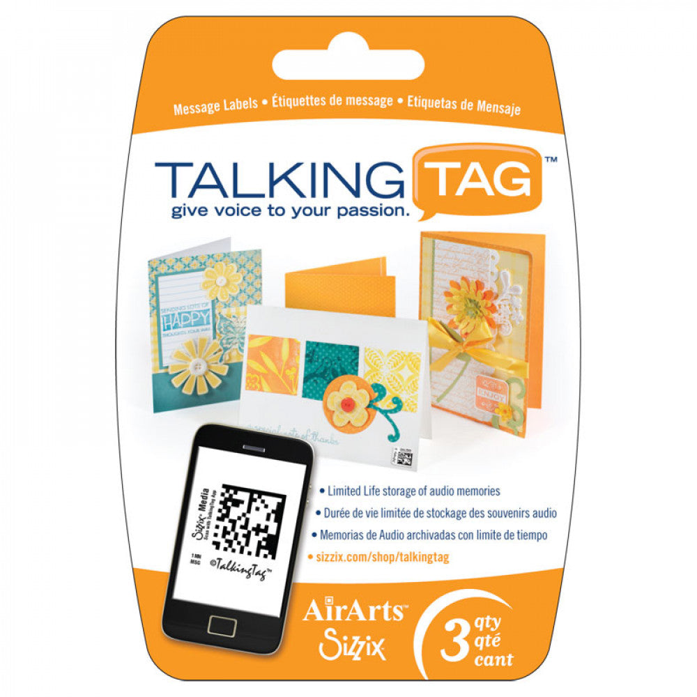 ETIQUETAS DE MENSAJE DE AUDIO TALKING TAG SIZZIX