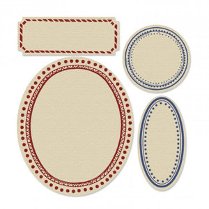 TROQUEL FRAMELITS C/TIMBRE FRENCH  SIZZIX