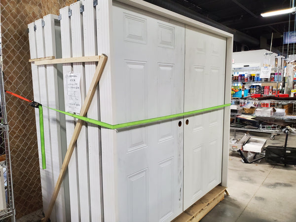 Pre-Hung Exterior Shed Doors - 6 ft High