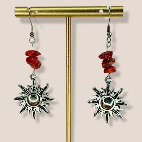 Jasper Sun Earrings