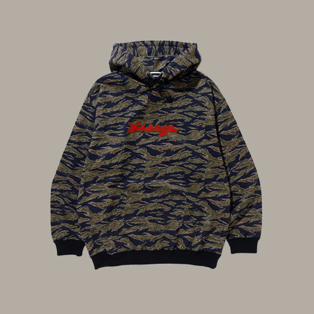 CAMO PULLOVER HOODED SWEAT COLOR 01