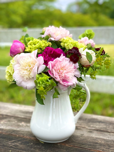 Mom-umental Peonies w/ Pitcher Vase