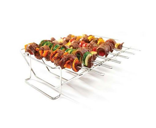 Broil King Multi Rack & Skewer Set installed