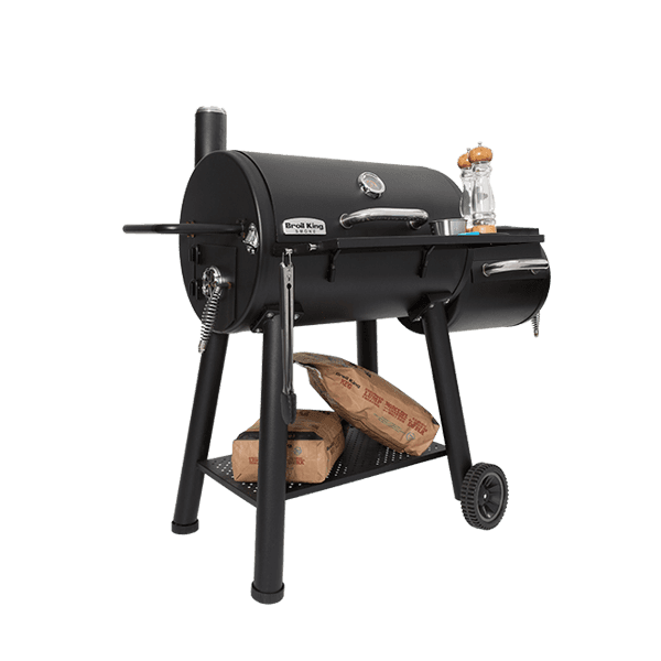 Broil King Offset Charcoal Smoker front view