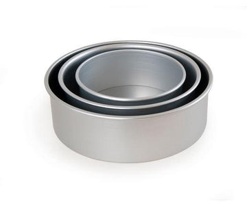 ESSE Silver Anodised Loose Bake Cake Tin
