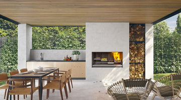 Escea Outdoor Fireplace Kitchen