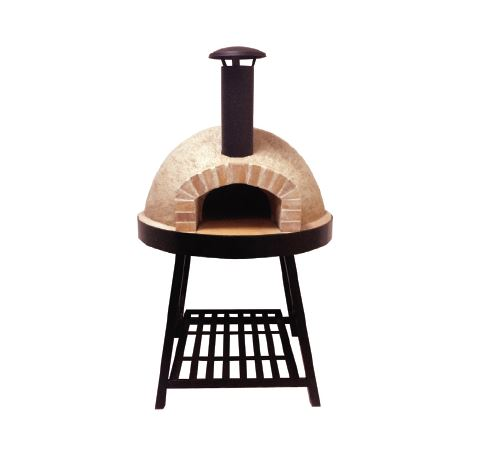 Igloo Pizza Oven and Stand front view with stand