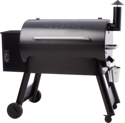 Traeger Pro 34 Blue side view