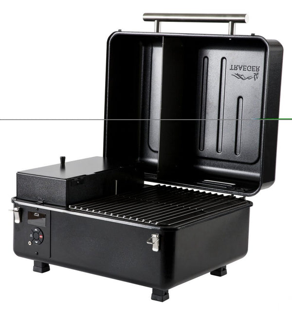 Traeger Ranger Pellet Grill front view lid up