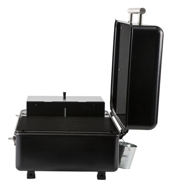 Traeger Ranger Pellet Grill side view with lid off