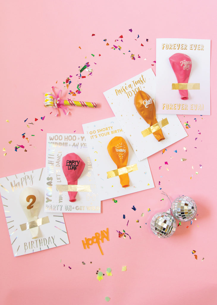 Birthday balloon cards