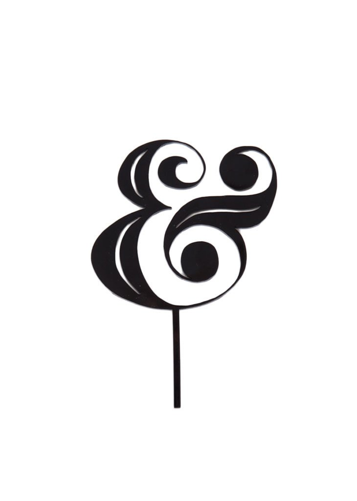 AMPERSAND CAKE TOPPER - Bracket