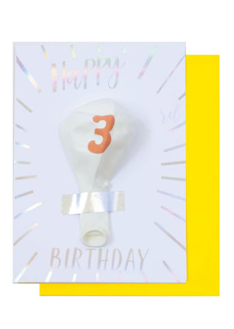 BIRTHDAY BALLOON CARD - 8TH BIRTHDAY