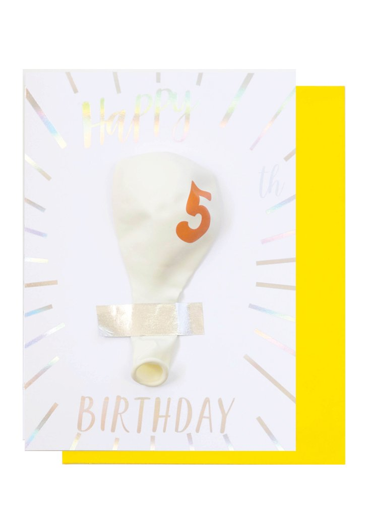 BIRTHDAY BALLOON CARD - 5TH BIRTHDAY - Bracket