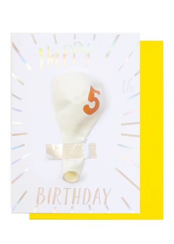 BIRTHDAY BALLOON CARD - 6TH BIRTHDAY