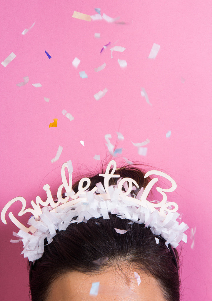 PARTY UP TOP HEADBAND: SINGLE 'BRIDE TO BE' - Bracket